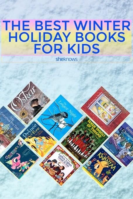 Pin it! Winter Holiday Books for Christmas, Hanukkah, Solstice, Diwali & More