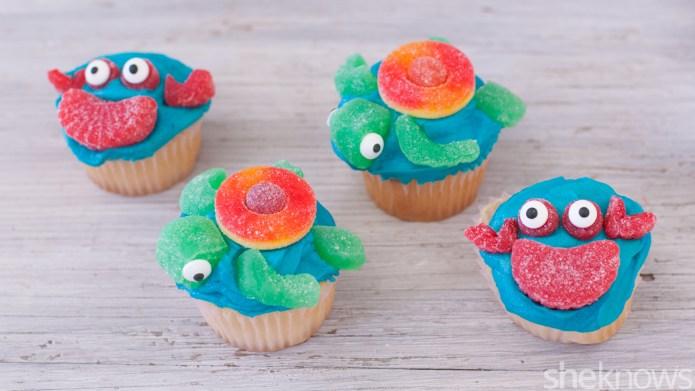 Cute sea creature cupcakes even amateur
