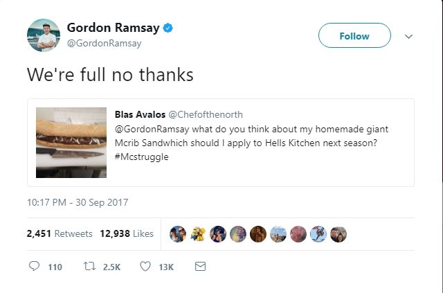 Gordon Ramsay's Meanest Tweets: Spare yourself the shame of interacting with Ramsay on Twitter