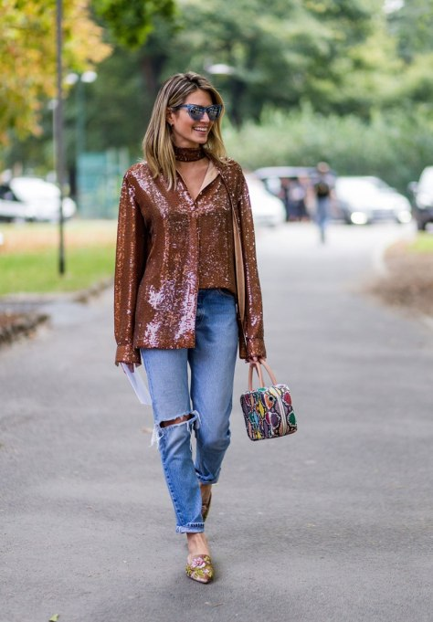 Non-Cheesy Ways to Wear Sequins: The Casual Sequins | Fall Fashion Trends 2017