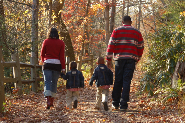 Family Walking Outdoors