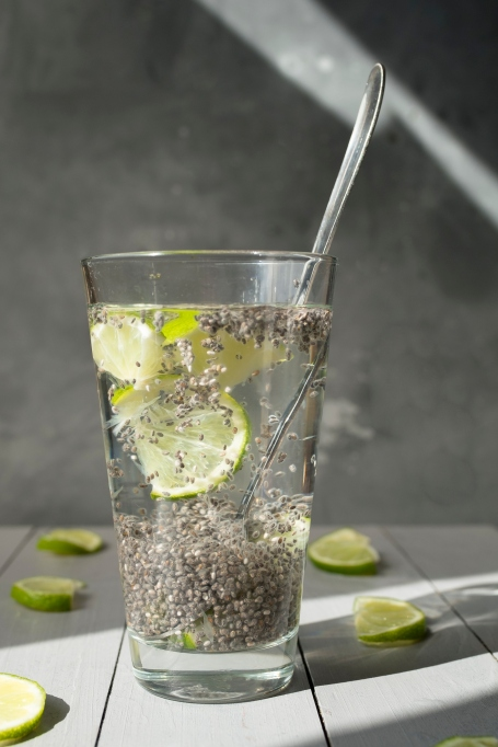 Chia seeds in water