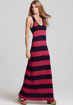 Soft Jole Dress - Diedra Striped Maxi Dress
