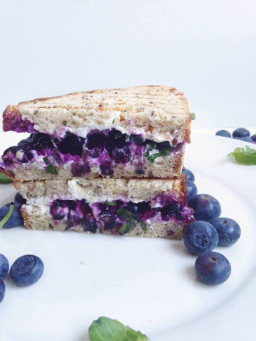Blueberry Basil and Goat Cheese Sandwich