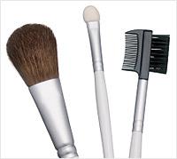Halloween pinup girl makeup tutorial - makeup brushes