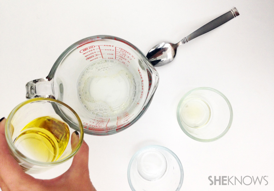 Step 2: Pour your 3 ingredients