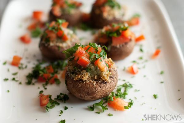 Pesto-Parm portobello mushrooms