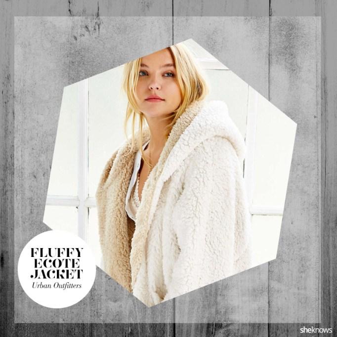Fluffy fall jacket