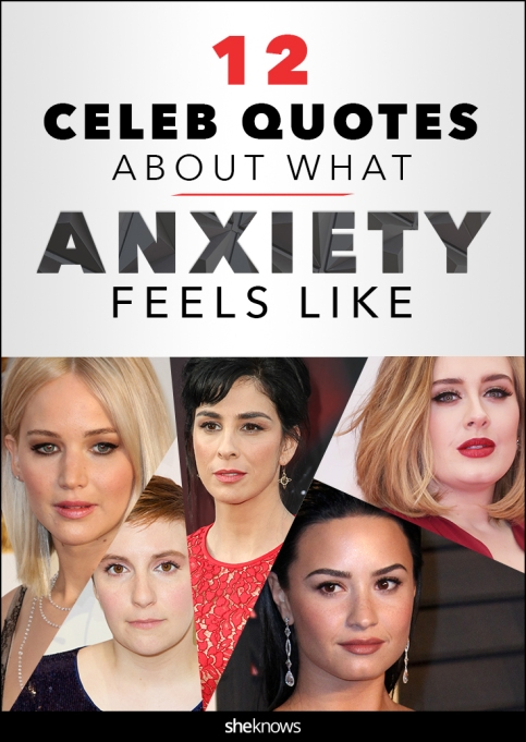 Celebrity anxiety quotes Pinterest image