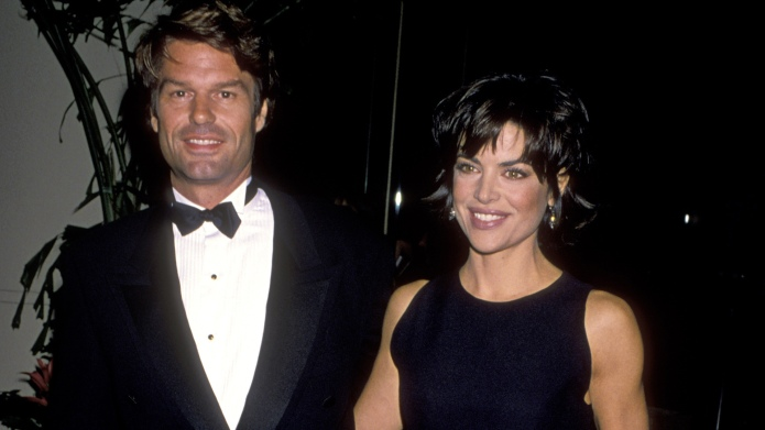 Harry Hamlin and Lisa Rinna during
