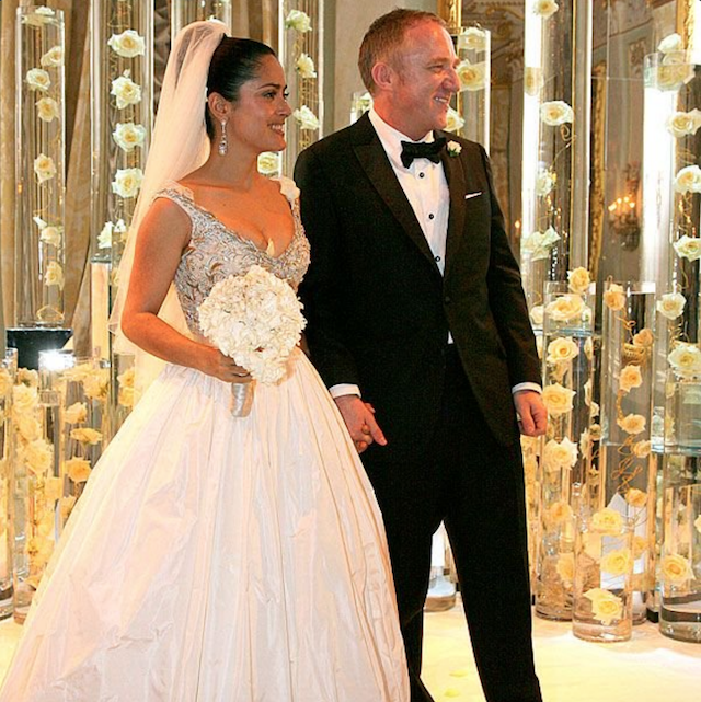 Photo of Salma Hayek on her wedding day