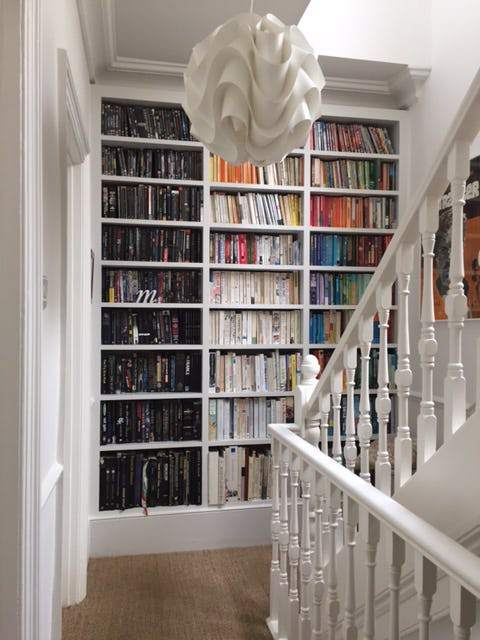 Color-code your shelves.