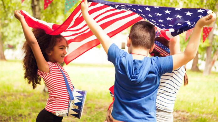 Children on Fourth of July