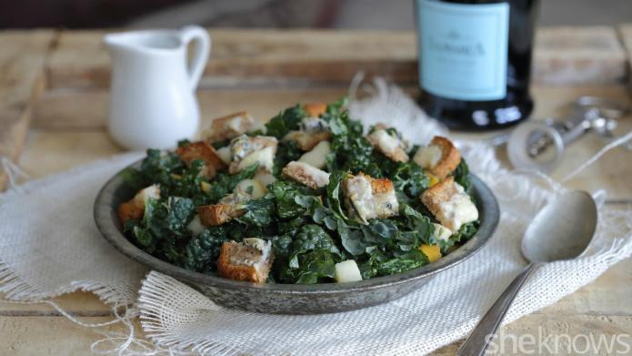 Elegant salad with Champagne dressing is