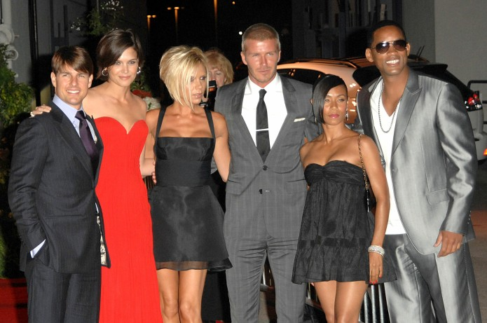 David and Victoria Beckham are joined