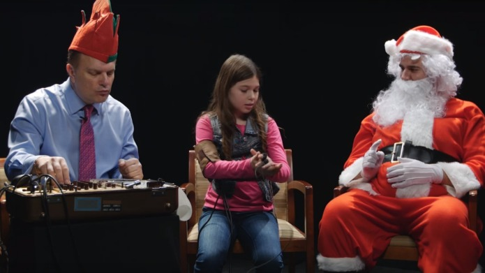 Santa finds out who's been naughty