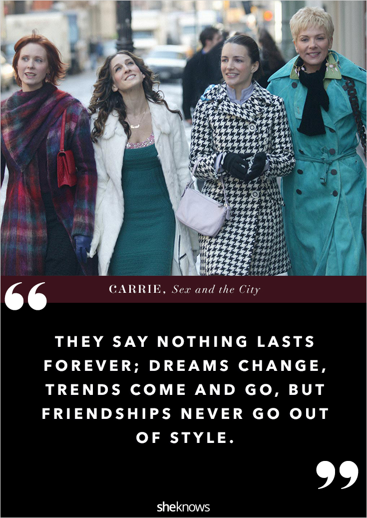 Quotes about friendship from sex and the city