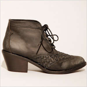 Woven lace up boots