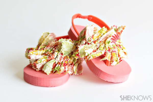 Fabric covered flip flops