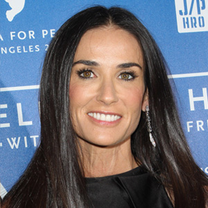 Square face -- Demi Moore