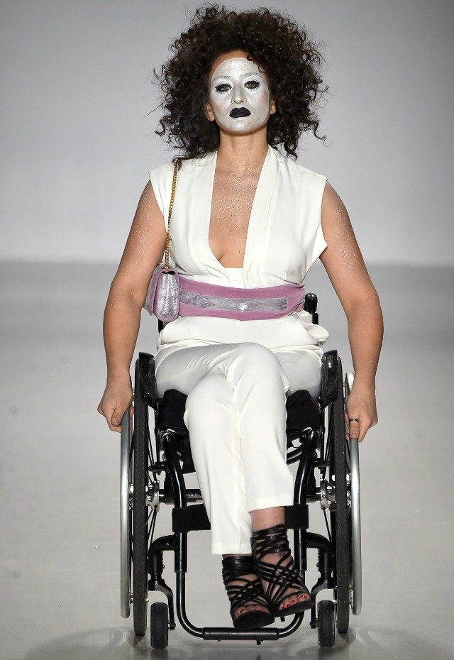 Model in a wheelchair