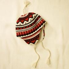merino fair isle print wool topper