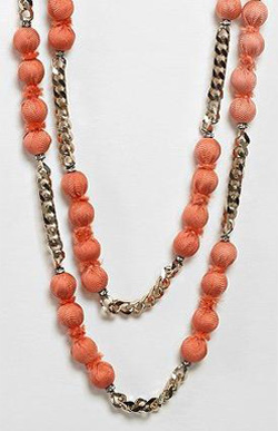 Marie-Laure Chamorel coral layered bead