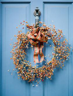 Door wreath for fall