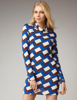 Turtleneck shift dress