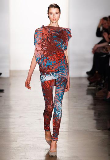 New York Fashion Week -- printed pants