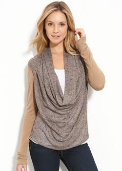 Seen here: Ella Moss cowl-neck sweater