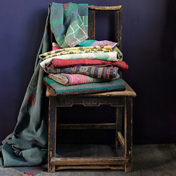 colorful quilted throw