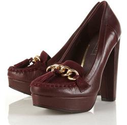 Our pick: Moccasin platform loafer in burgundy (Top Shop, $125).