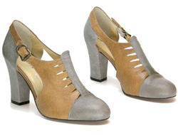 Our pick: Re-mix parkview heels in grey and taupe (Shoostore, $219).
