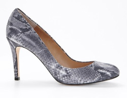 Our pick: Ann Taylor python pump in graphite (Anntaylor.com, $178).