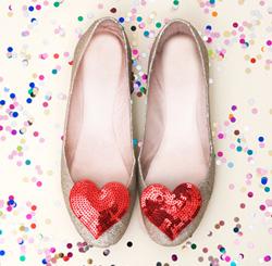 Heart shoe clips