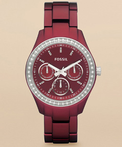 Berry bling watch