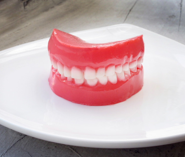 false teeth jello shot