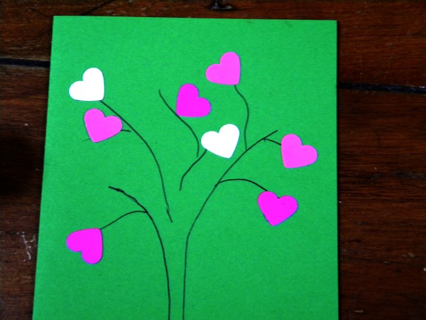 glue hearts