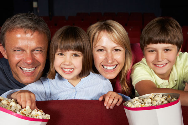 Family at the movie theater | Sheknows.com