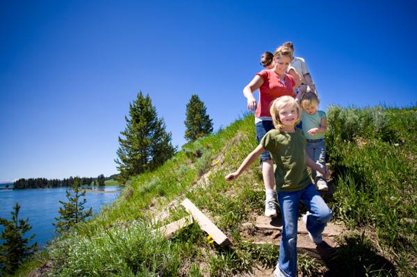 Family at Yellowstone