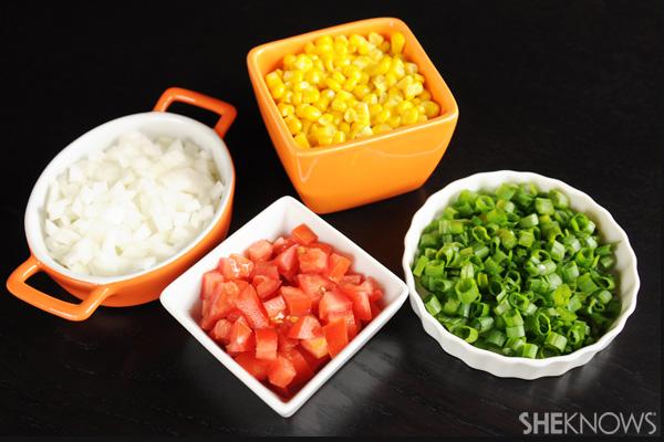 veggie toppings