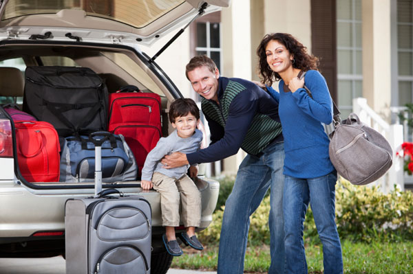 Family going on road trip