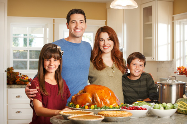 Happy family at Thanksgiving