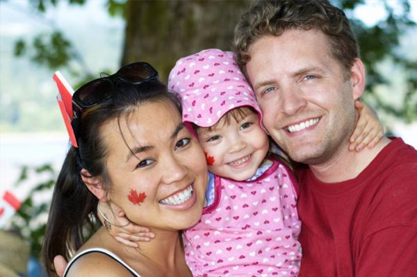 family at fair