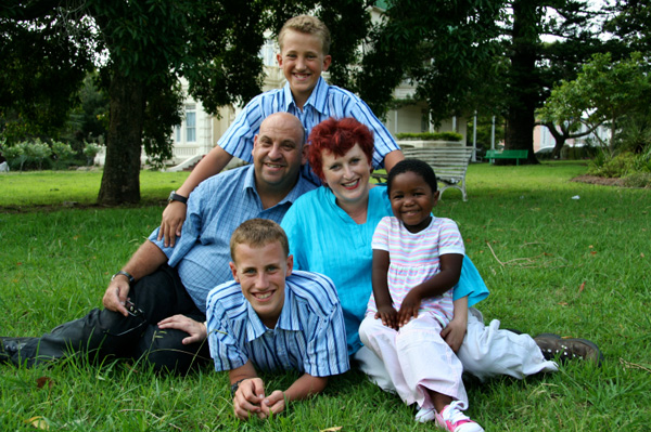 Family with adopted child