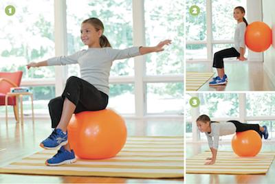 Ball exercises for kids