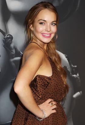 Lindsay Lohan side bob