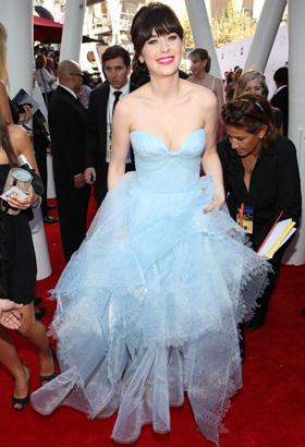Zooey Deschanel at 2012 Emmys