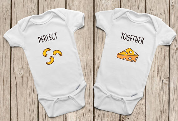 Mac and cheese onesies